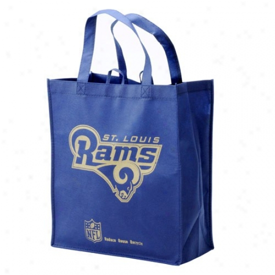 St. Louis Rams Navy Livid Reusable Tote Bag