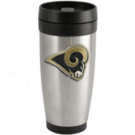 St. Louis Rams Stainless Steel Team Logo Thermo Pass Tumblerr