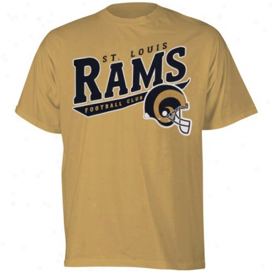 St Louis Rams T Shirt : Reebok St Louis Rams Gold The Call Is Tails T Shirt