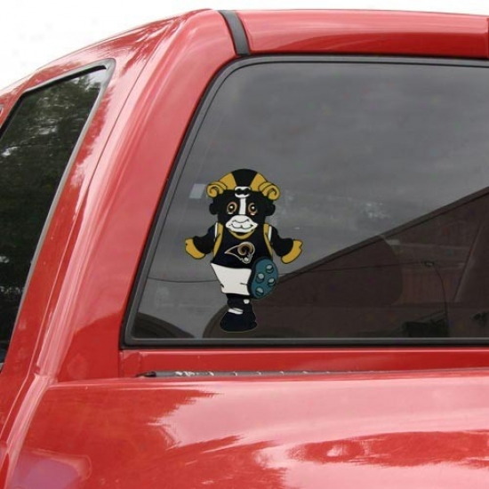 St. Louis Rams Team Mascot 12'' Window Cling