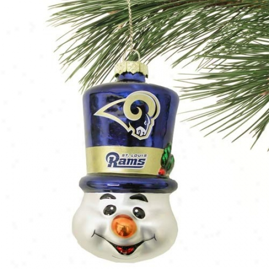 St. Louis Rams Top Cardinal's office Snowman Blown Glass Ornament