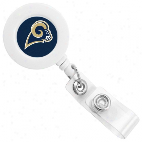 St. Lkuis Rams Whitte Badge Reel