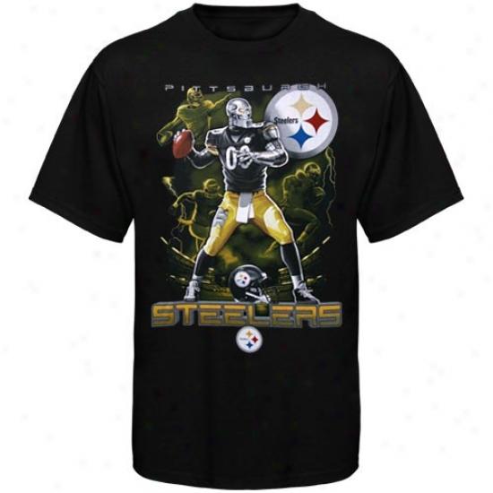 Steeler Shirts : Steeler Black The Quarterback Shirts
