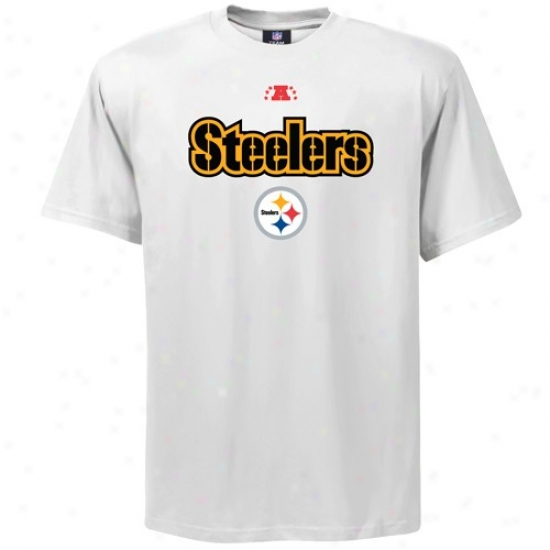 Steeler T-shirt : Steeler White Critical Victory T-shirt