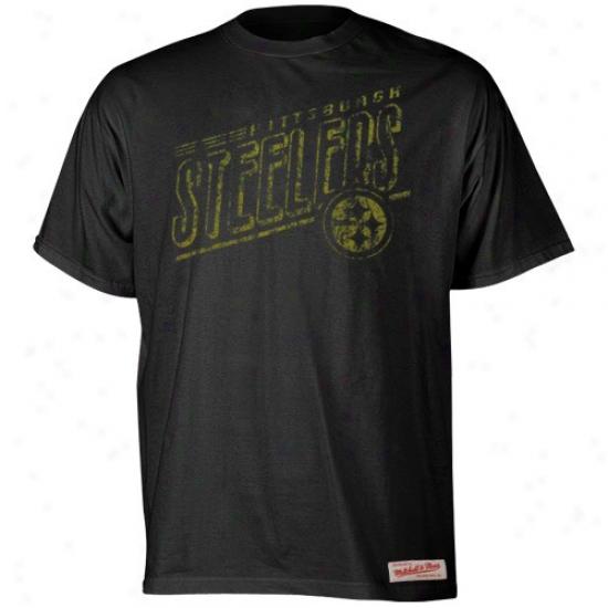 Steeler Tshirt : Mitchell & Ness Steeler Dismal Vintage Premium Tshirt