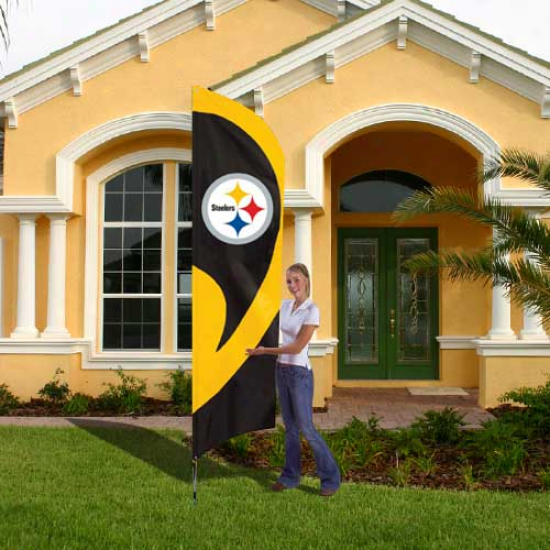 Steelers Banner : Steelers Tall Applique Team Flag