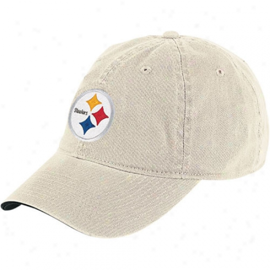 Steelers Hats : Reebok Steelers Putty Basic Logo Hats