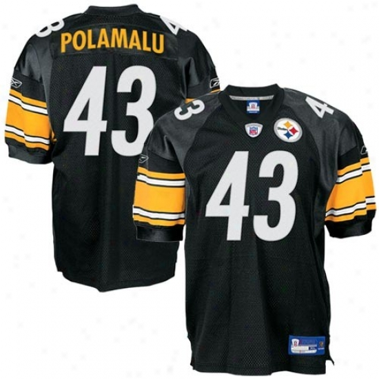 Steelers Jersey : Reebok Steelers #43 Troy Polamalu Black Authentic Football Jersey
