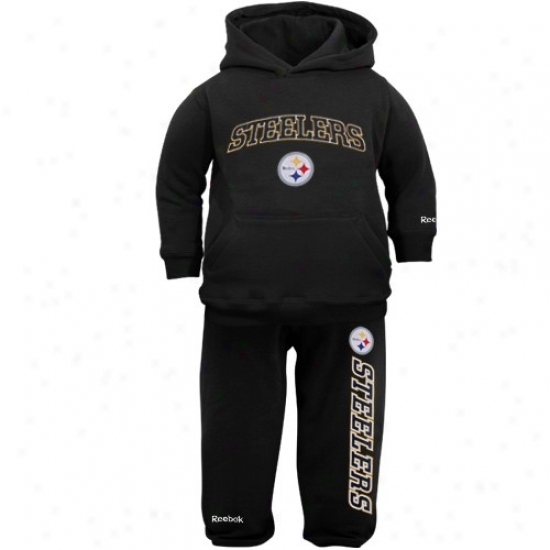 Stewlers Sweat Shirts : Reebok Steelers Infant Black Pullover Sweat Shirts And Sweatpants Set