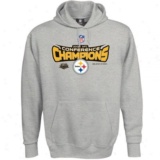 Steelers Sweatshirts : Steelerw 2008 Afc Champions Ash Locker Room Sweatshirts