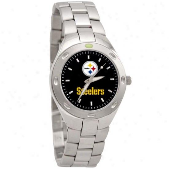 Steelers Watch : Steelers Men's Stainless Steel Touchdown Watch