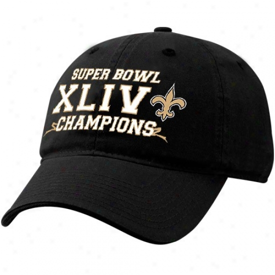 Super Bowl Caps Caps : Reebok New Orleans Saints Murky Super Bowl Xliv Championss Adjustable Slouch Caps