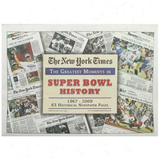 Super Bowl Greatest Moments Newspaper