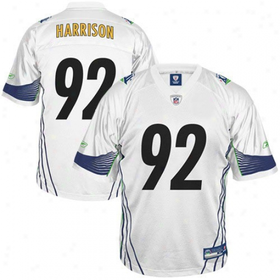 Super Bowl Commodities Jersey : Reebok Pittsburgh Steelers #92 James Harrison Super Bowl Xliii Champions Youth White Fashion Football Jersey
