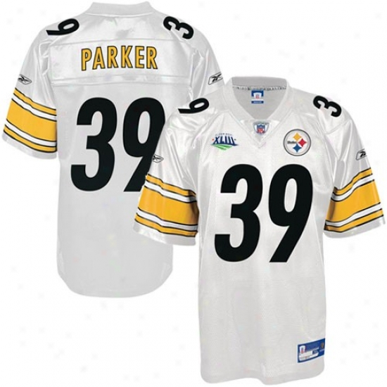 Super Bowl Merchandise Jerseys : Reebok Pittsburgh Steelers #39 Willie Parker Super Bowl Xliii White Replica Football Jerseys