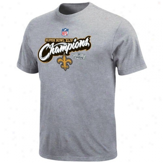 Super Bowl Merchandise Shirts : New Orlean sSaints Youth Ash Super Bowl Xliv Champions Higher Ground Official Locker Room Shirts