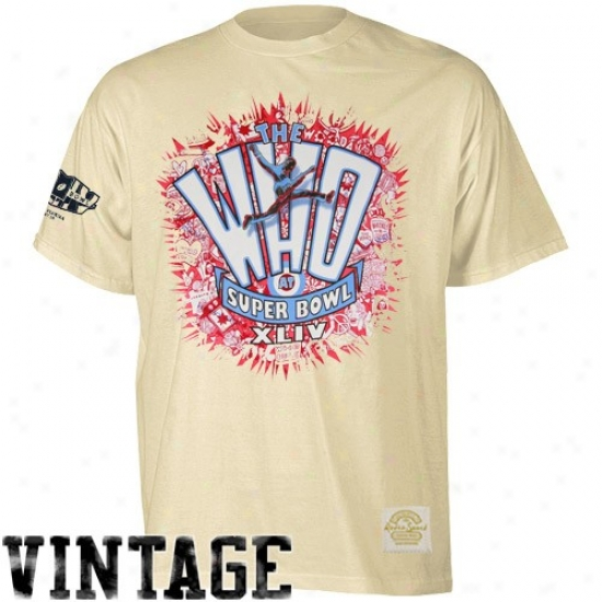 Super Bowl Merchandise Tees : Reebok Super Bowl Xliv Cream Burst-o-rama The Who Super Soft Premium Tees