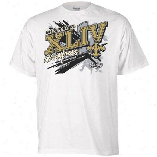 Super Bowl Merchandise Tshirt : Reebok New Orleans Saints Pure Super Bowl Xliv Champions Parade Tshirt