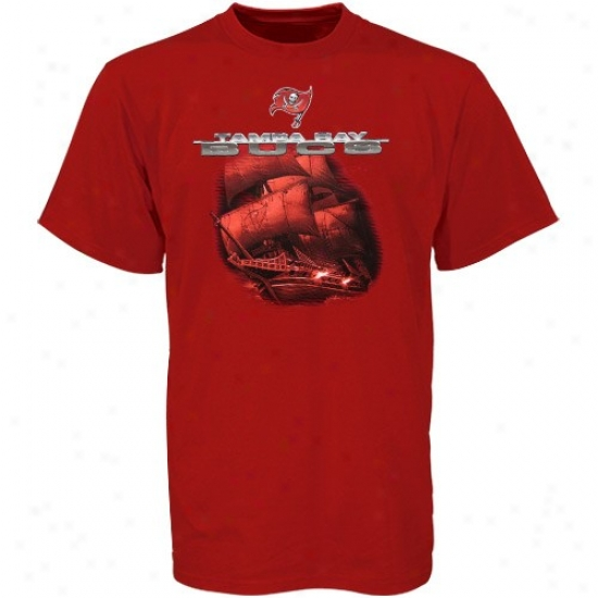 Tampa Bay Buccaneer Attire: Tampa Bay Buccaneer Red Awesome Stuff T-shirt