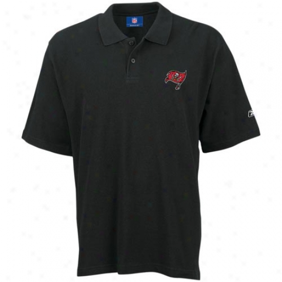 Tampa Bay Buccaneer Clothes: Reebok Tampa Bay Buccaneer Black Pique Polo