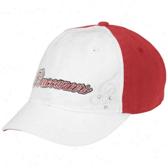 Tampa Desperation Bucccaneer Gear: Reebok Tampa Bay Buccaneer Ladies White Charlie Adjustable Hat