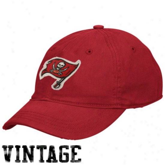 Tampa Bay Buccaneer Hat : Reebok Tampa Bay Buccaneer Ladiea Red Short Brim Slouch Vintage Hat