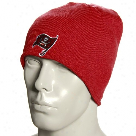 Tampa Bay Pirate Hats : Reebok Tampa Bsy Buccaneer Red Plane Knit Reversible Beanie