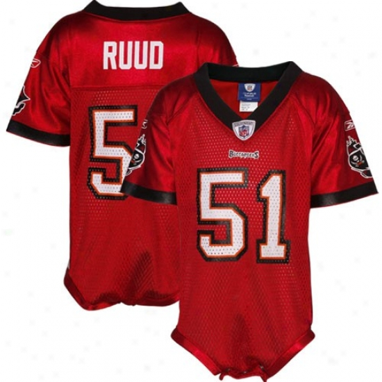 Tampa Bay Buccanneer Jersey : Reebok Nfl Equipment Tampa Bay Buccaneer #51 Barrett Ruud Infant Red Replica Jersey Creeper
