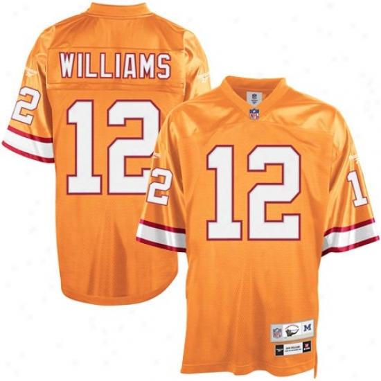 Tampa Bay Buccaneer Jersey : Reebok Tampa Bay Buccaneer #12 Doug Williams Orange Glaze Tackle Twill Throwback Football Jersey