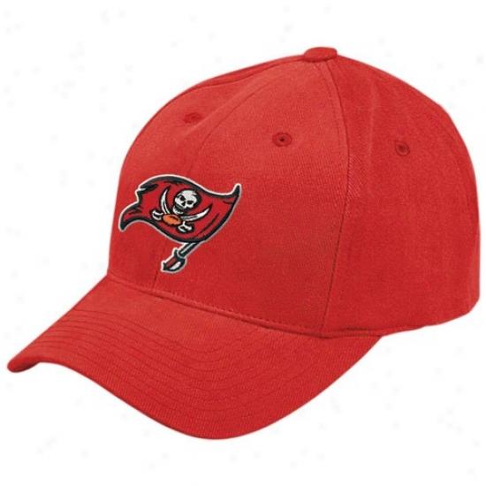Tampa Bay Buccaneer Merchandise: Reebok Tampa Bay Buccaneer Red Brush Cotton Hat