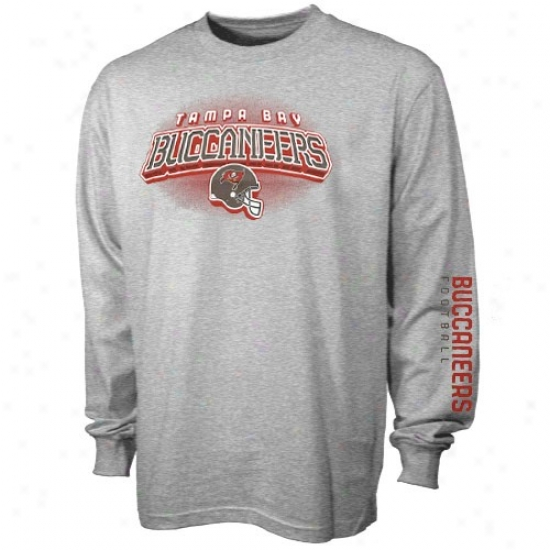Tampa Bay Buccaneer Shirts : Reebok Tampa Baywood Buccaneer Youth Ash Complete Long Sleeve Shirts