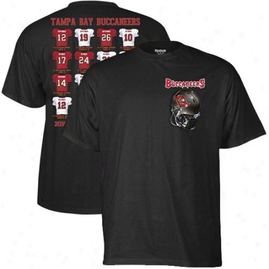 Tampa Bay Buccaneer Shirts : Reeb0k Tampa Bay Buccaneer Black Jersey Schedule Shirts