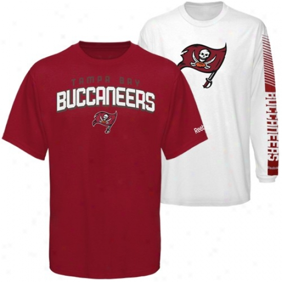 Tampa Bay Buccaneer Shirts : Reebok Tampa Bay Buccaneer Red 3-in-1 Shirts Combo Pack