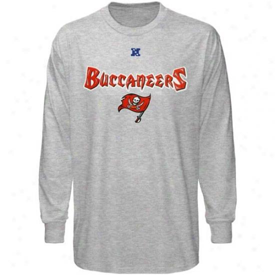 Tampa Bay Buccaneer Shirts : Tampa Bay Buccaneer Ash Critical Conquest Iii Long Sleeve Shirts