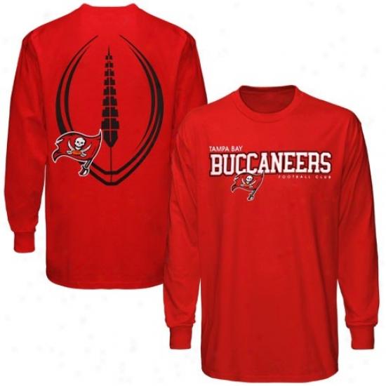Tampa Bay Buccaneer T-shirt : Reebok Tampa Bay Buccaneer Rrd Baolistic Long Sleeve T-shirt