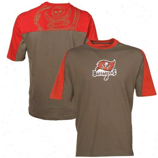 Tampa Bay Bufcaneer Tees : Reebok Tampa Bay Buccaneer Pewter-red Draft Pick Tes