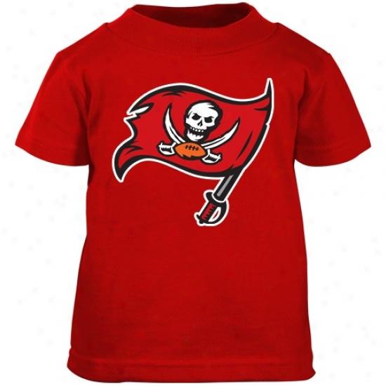 Tampa Baywood Bucfaneer Tshirt : Reebok Tamps Bay Buccaneer Toddler Red Radical Logo Tshirt