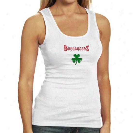 Tampa Bay Bucacneer Tshirts : Reebok Tampa Bay Buccaneer Ladies White Fortune Tank Top