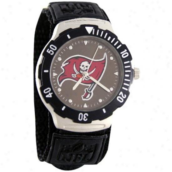 Tampa Bay Buccaneer Wrist Watch : Tampa Bay Buccaneer Black AgentV  Wrist Watch