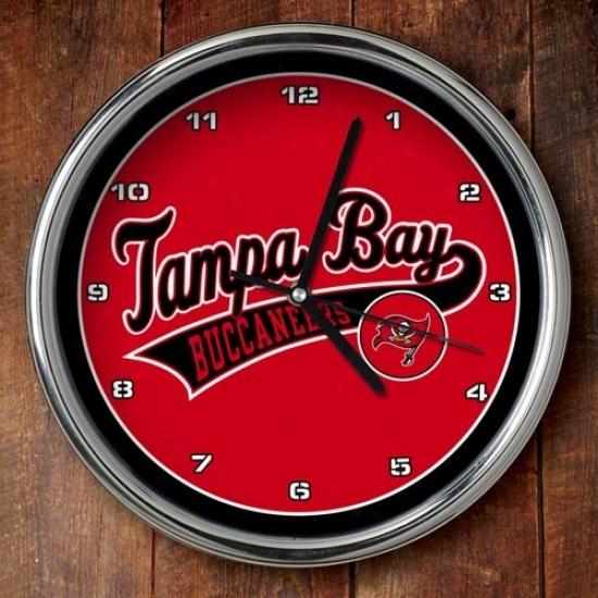 Tampa Bay Buccaneers 12'' Chrome Clock