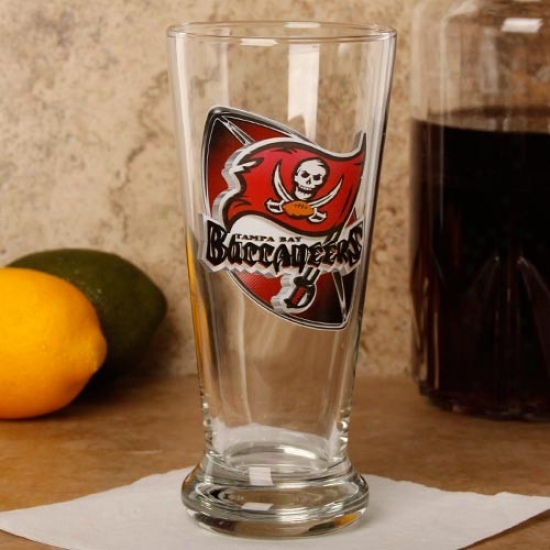 Tampa Bay Buccaneers 16.5 Oz. Enhanced Hi-def Flared Pilsner Glass