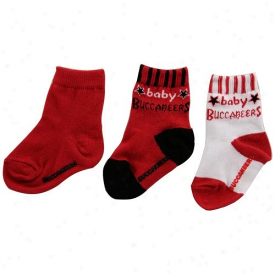 Tampa Bay Buccaneers 3-pack Infant Bootie Socks
