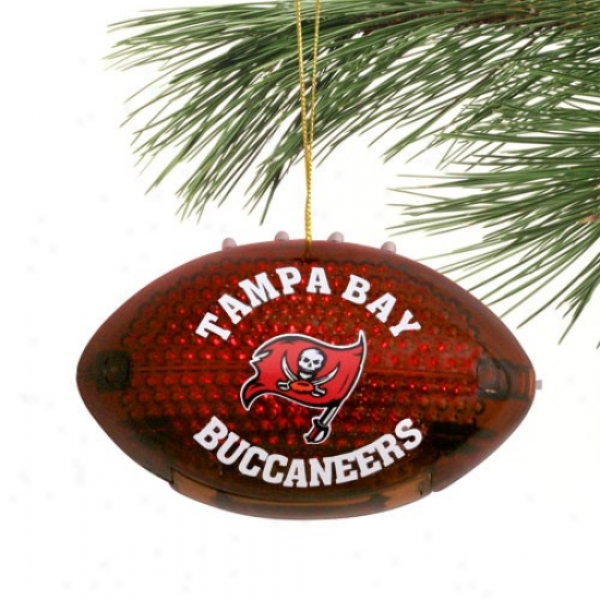 Tampa Bay Buccaneers 4'' Acrylic Liggt-up Football Ornament