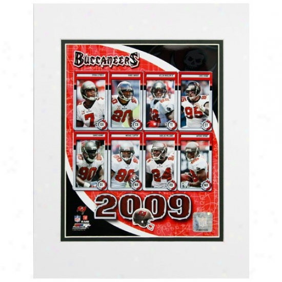 Tampa Bay Buccaneers 8'' X 10'' 2009 Team Composite Matted Photograph