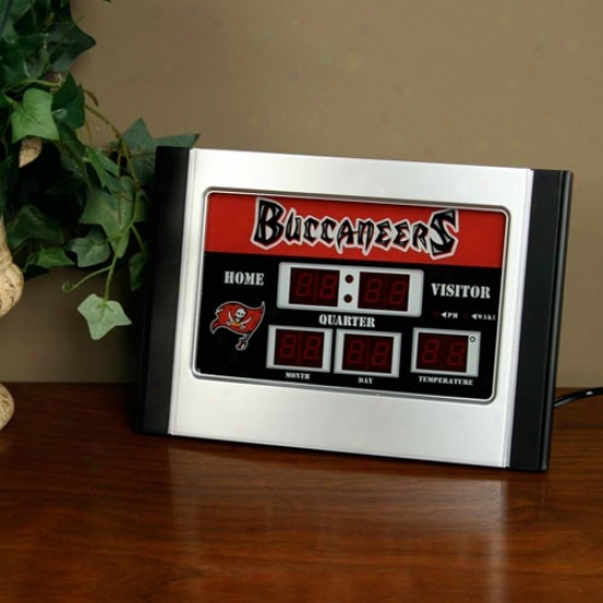 Tampa Bay Buccaneers Alarm Scoreboard Clock