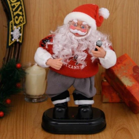 Tampa Bay Buccaneers Animated Rock'n'roll Santa
