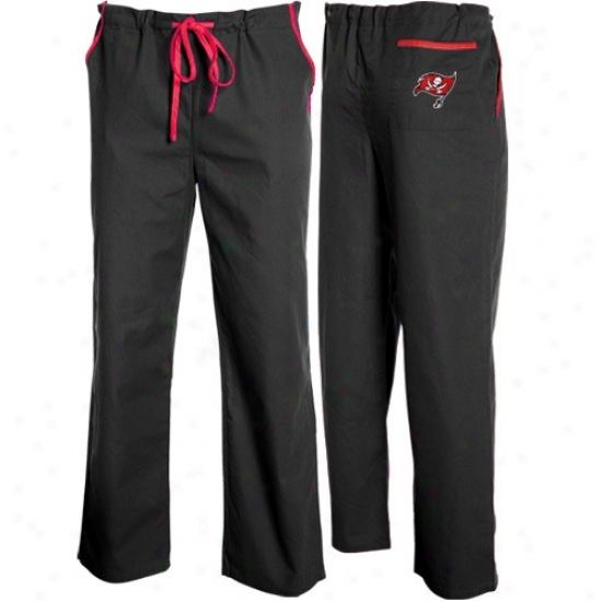 Tampa Bay Buccaneers Black Basic Unisex Solid Scrub Pants