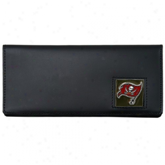 Tampa Bay Buccaneers Black Leather Executive Checkbook Cover