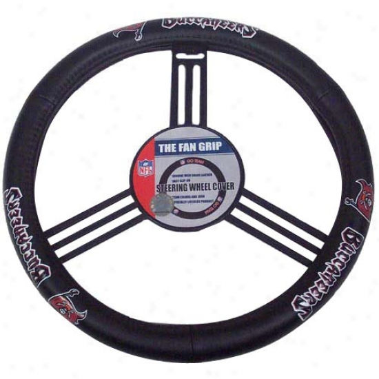 Tampa Bay Buccaneers Wicked Leather Steering Wheel Overspread