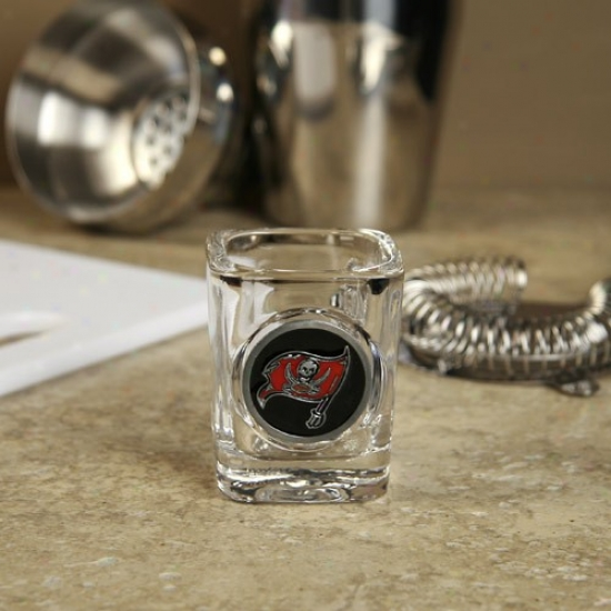 Tampa Bay Buccaneers Compass Logo 2 Oz. Equality Shpt Glass